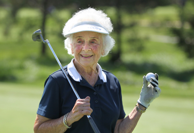 Image result for old lady golfing